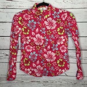 Lacoste 44 floral button front blouse